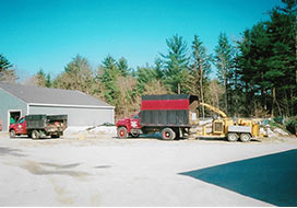 Loading Truck for Tree Company in Grafton County, NH