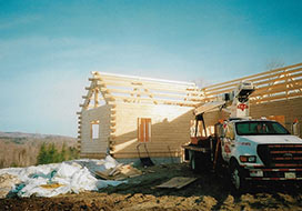 Truck In Front Of Unfinished House